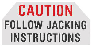 1961 Skylark Jacking Instruction Decal Jack Base