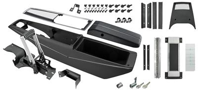 1970-72 Chevelle Console Kits, Powerglide Center Complete w/Shifter, by RESTOPARTS