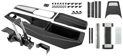 1969 El Camino Console Kit, Turbo Hydra-Matic Center Complete w/Shifter, by RESTOPARTS