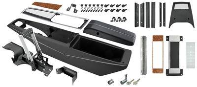 1971-1972 Monte Carlo Console Kit, Center (Turbo) (White Letters) with Shifter, by RESTOPARTS