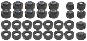 1968-72 Chevelle Body Bushing Kits, Complete Convertible