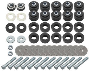 1964-67 Body Bushing Kits, Complete Coupe/El Camino w/Hardware, by RESTOPARTS
