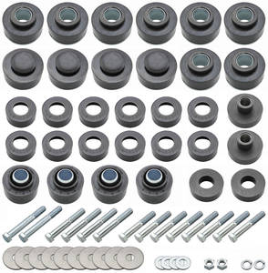 1968-1972 LeMans Body Bushing Kit, Complete (OPGI) Convertible, Bushings w/Hardware, by RESTOPARTS