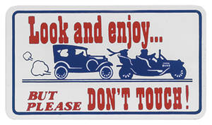 1959-77 Grand Prix Magnetic Sign Look & Enjoy