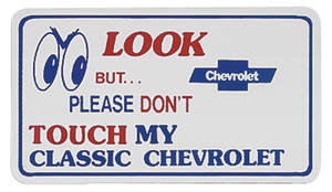 1978-1983 Malibu Magnetic Sign Look Don't/Classic