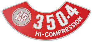 1970-71 Skylark Air Cleaner Decal 350-4V Hi-Compression