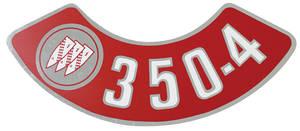 1968-69 Skylark Air Cleaner Decal 350-4V