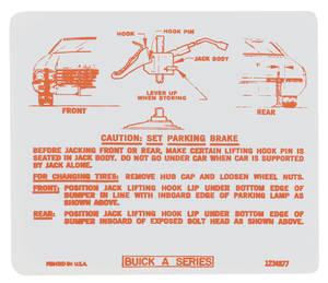 1970 Skylark Jacking Instruction Decal (#1234877)