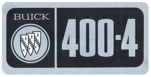 1967-1970 Skylark Valve Cover Decal 400-4