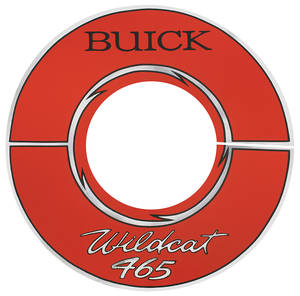 "1965-66 Riviera Air Cleaner Decal Buick Wildcat 465 10"" Red (Vinyl)"