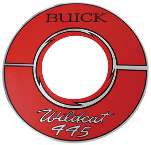 "1964-66 Riviera Air Cleaner Decal Buick Wildcat 445 10"" Red (Vinyl)"