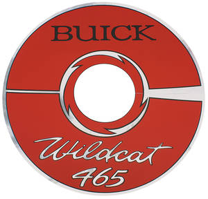 "1964-66 Riviera Air Cleaner Decal Buick Wildcat 465 14"" Red (Vinyl)"
