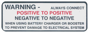 1965-66 Skylark Battery Warning Decal