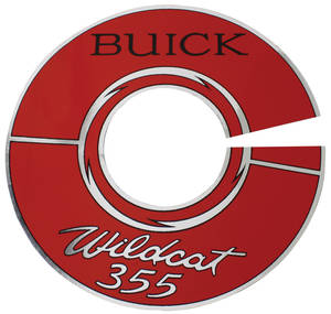 "1964-1966 Skylark Air Cleaner Decal Wildcat 355 7"" Clear"
