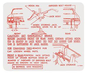 1966-1966 Skylark Jacking Instruction Decal (#1377006)