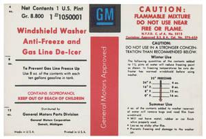 1961-67 Skylark Windshield Washer Decal Bottle GM (#1050001)