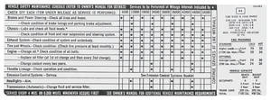 1972 Skylark Vehicle Safety Maintenance Decal GS (#1241012)