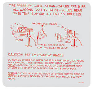 1965-1965 Skylark Jacking Instruction Decal (#1371094)