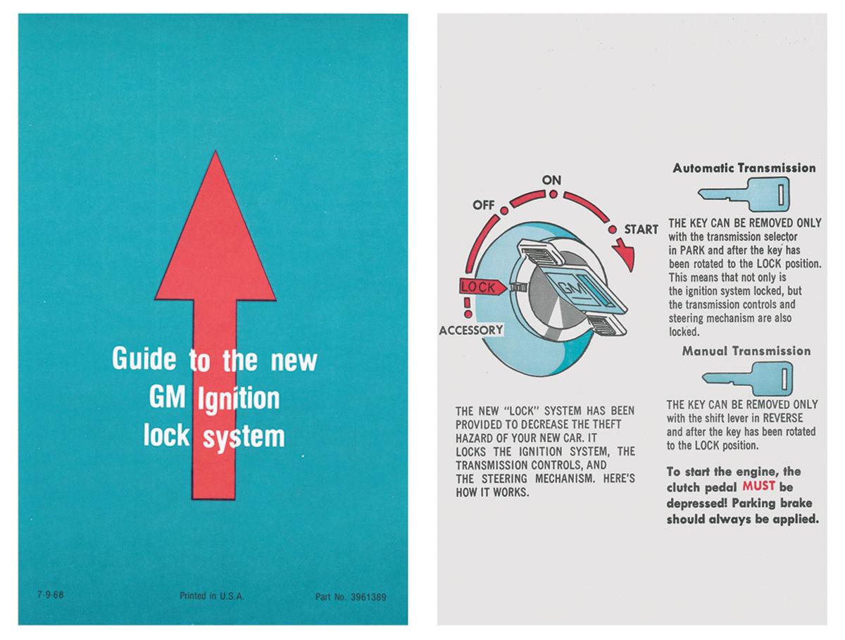 """Photo of Ignition Lock Instruction Sleeve visor sleeve, 7"""" (GM #3961389)"""