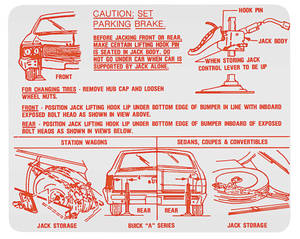 1968-1969 Skylark Jacking Instruction Decal (#1385591)