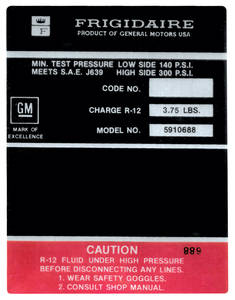 1969 Riviera Air Conditioning Compressor Decal (#5910688)
