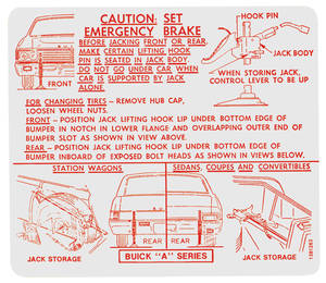 1967 Skylark Jacking Instruction Decal (#1381263)
