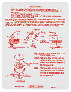 1972 Skylark Jacking Instruction Decal (#1241778)