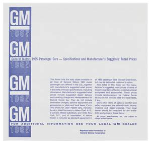 1965-1965 Grand Prix Dealer Price Booklet, Original