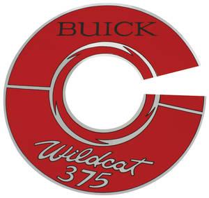 "1966 Skylark Air Cleaner Decal Wildcat 375 7"" Silver"
