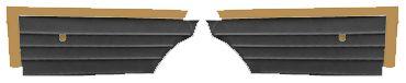 1968-1968 Skylark Door Panels, 1968 Skylark Custom/GS 350/GS 400 Rear, Convertible, by PUI
