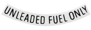 "1959-77 Catalina/Full Size Fuel Filler Decal 3"" Black (Curved)"