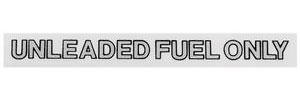 "1959-77 Catalina Fuel Filler Decal 4"" Black/Silver"