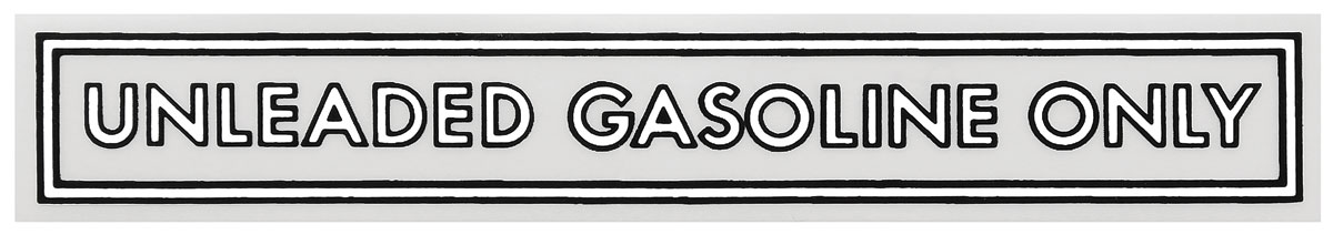 """Photo of Fuel Filler Decal 4"""" black/white"""