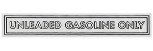 "1959-1976 Catalina Fuel Filler Decal 4"" Black/White"