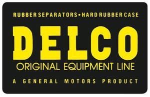 1964-1972 Skylark Battery Warning Decal Delco Original Equipment
