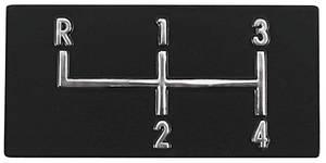 1968-72 El Camino Console Shifter Plate Emblem, 4-Speed