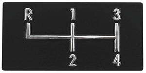 1968-72 El Camino Console Shifter Plate Emblem, 4-Speed