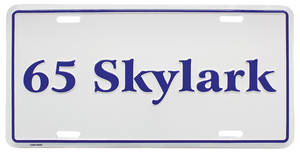 "1965 License Plate, ""Skylark"" Embossed, by RESTOPARTS"