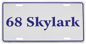 """1968 License Plate, """"Skylark"""" Embossed"""