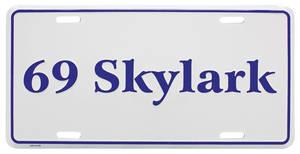 """1969-1969 Skylark License Plate, """"Skylark"""" Embossed, by RESTOPARTS"""