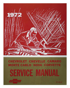 1972 Monte Carlo Chassis Service Manuals