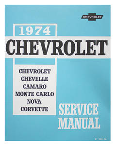 1974-1974 Chevelle Chassis Service Manual