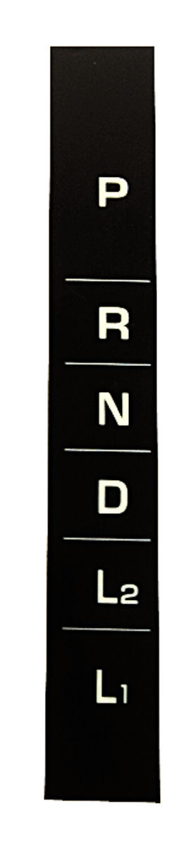 Photo of Console Shift Indicator Decal, 1964-65 3-speed automatic