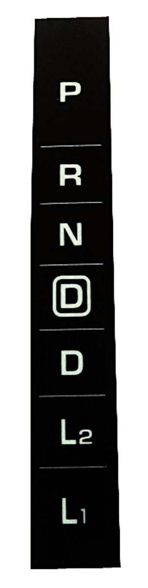 Photo of Console Shift Indicator Decal, 1964-65 4-speed automatic