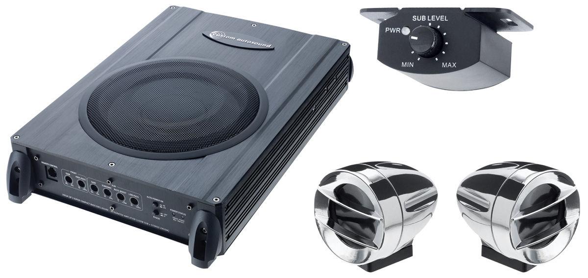 "Photo of Speaker & Amplifier Set; ""The System"""