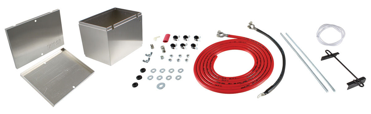 Photo of Battery Box (Aluminum) with 16' 1-Gauge Battery Cables