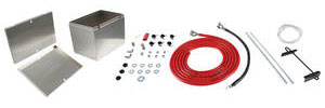 "1961-73 GTO Battery Box Kit, Aluminum 13-1/2"" X 9-1/2"" X 10"" Box W/O Logo w/16' 1-Gauge Battery Cables"