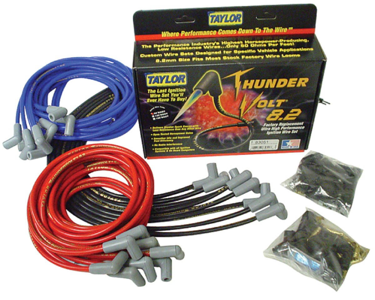Photo of Spark Plug Wire Set, 8.2 mm Thundervolt Universal Fit (90°)