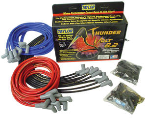 1962-1977 Grand Prix Spark Plug Wire Sets, 8.2 mm Thundervolt Universal Fit 90-Degree, by Taylor