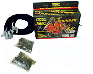1954-1976 Cadillac Spark Plug Wire Set, 8.2 mm Thundervolt Universal Fit (180°), by Taylor